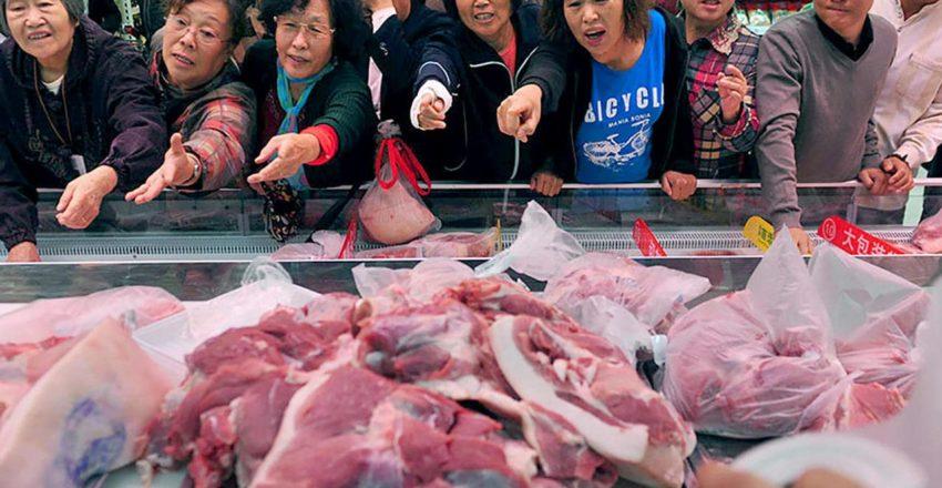 Импорт свинины в Китай